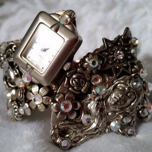 Jewelry - Art Deco Style Cuff Watch